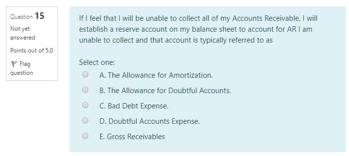 accounts receivable reserve