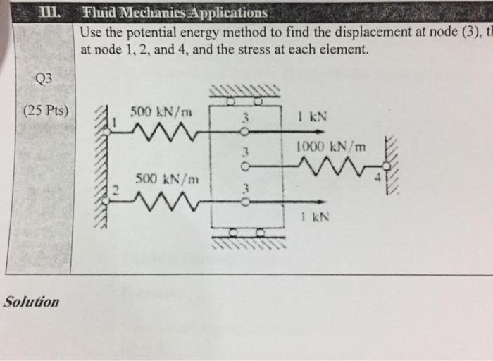 Fluid Mechanics Applications Use The Potential Ene