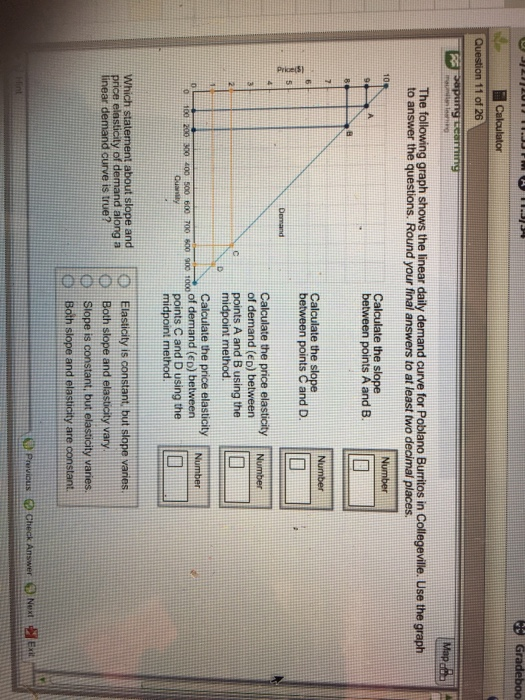 Solved Calculator Question 11 Of 26 The Following Graph S