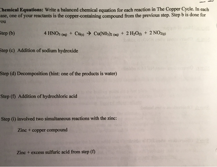 Solved Write A Balanced Chemical Equation For Each Reacti