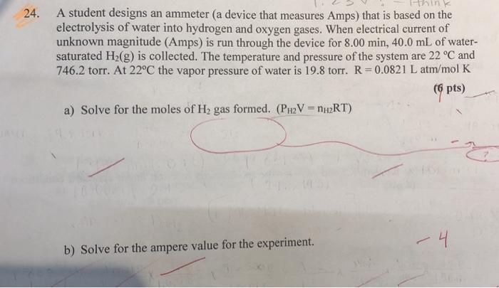 A Student Designs An Ammeter (a Device That Measur