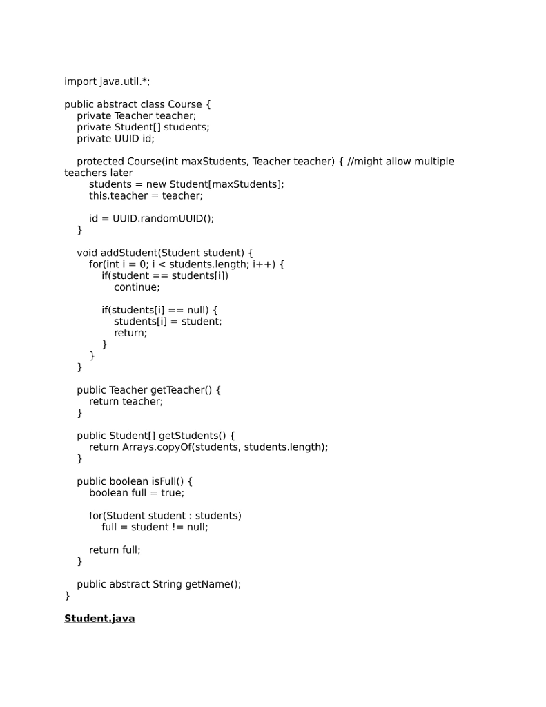 Java - The Code Shown Below Is From An Application    | Chegg com