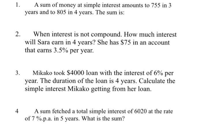 Solved: A Sum Of Money At Simple Interest Amounts To 755 I...