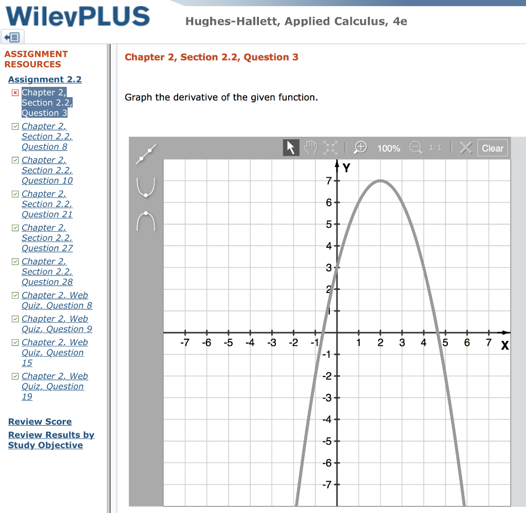 Solved: WilevPLUS Hughes-Hallett, Applied Calculus, 4e ASS