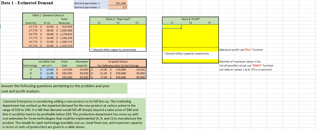 Solved: Managerial Accounting Excel HW Help Thanks In Adva