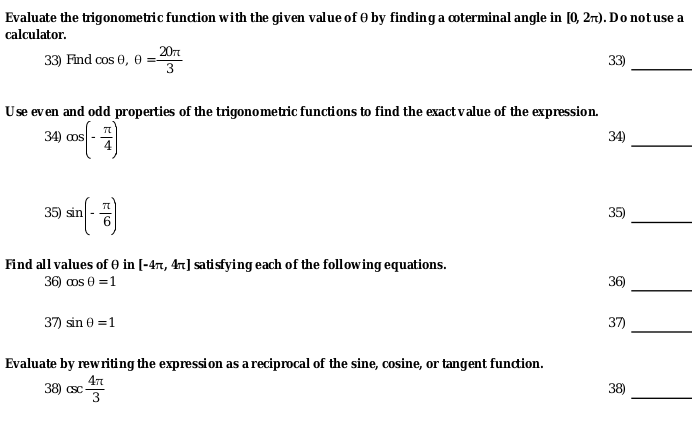 Solved: Evaluate The Trigonometric Function With The Given