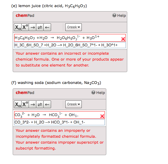 improper formatting