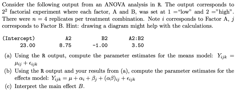 Consider The Following Output From An ANOVA Analys
