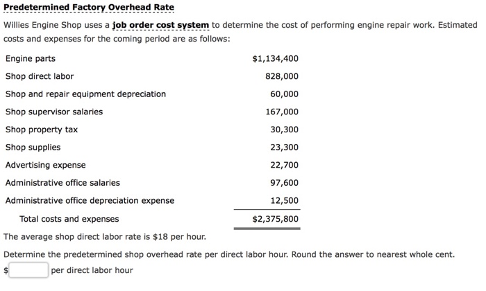 Solved: Willies Engine Shop Uses A Job Order Cost System T