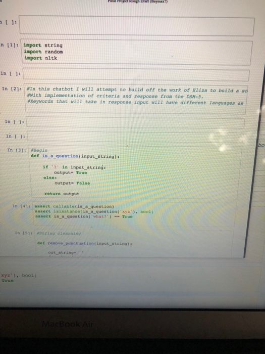 Solved: Python Help!! Currently Making A Chatbot, But When