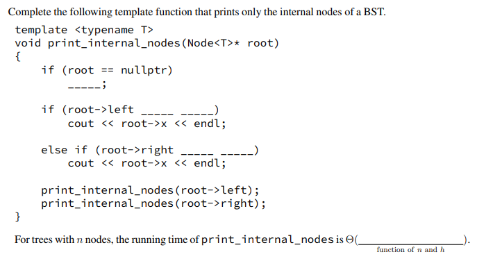 Solved: Complete The Following Template Function That Prin ...