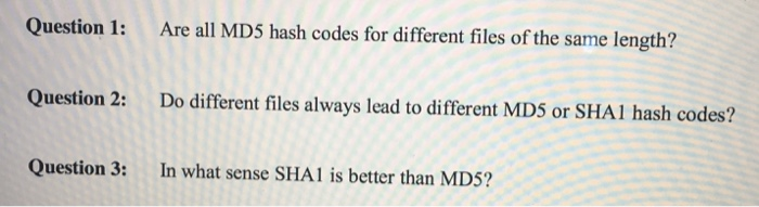 Solved: Question 1: Are All MDS Hash Codes For Different F