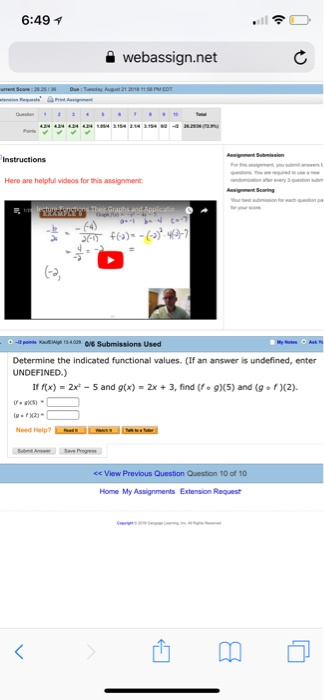 Solved 649 A Webassign Instructions Here Are Helpful