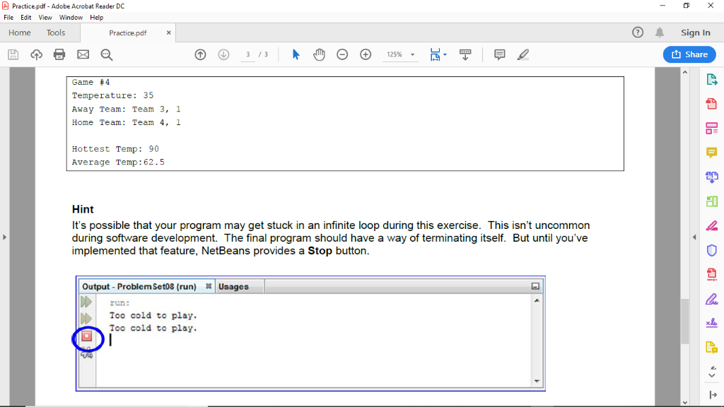 Practice pdf - Adobe Acrobat Reader DC File Edit V