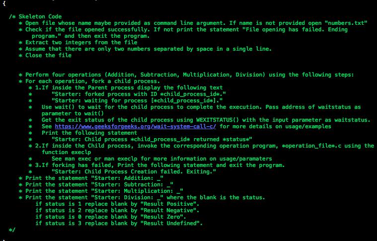 Skeleton Code K Open File Whose Name Maybe Provi    | Chegg com