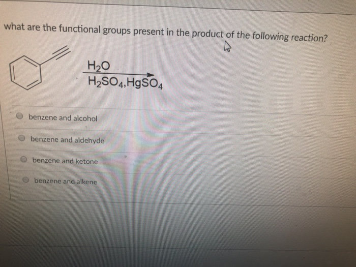 Solved: What Are The Functional Groups Present In The Prod