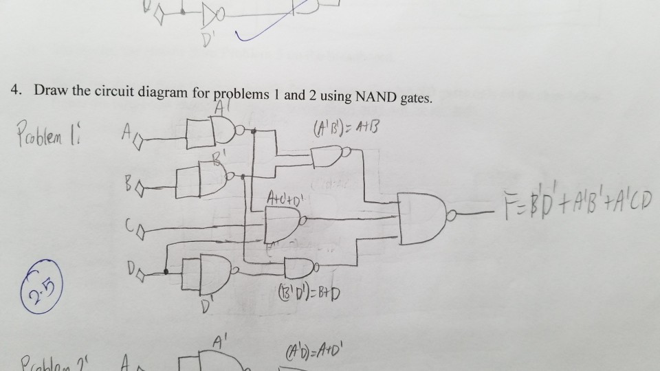 [SCHEMATICS_4ER]  Solved: I Have A Logic Diagram For The Equation F = B'D' +... | Chegg.com | Ab C D Circuit Diagram |  | Chegg