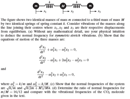 Advanced physics recent questions chegg the figure shows two identical masses of mass m connected to a third mass of mass fandeluxe Image collections