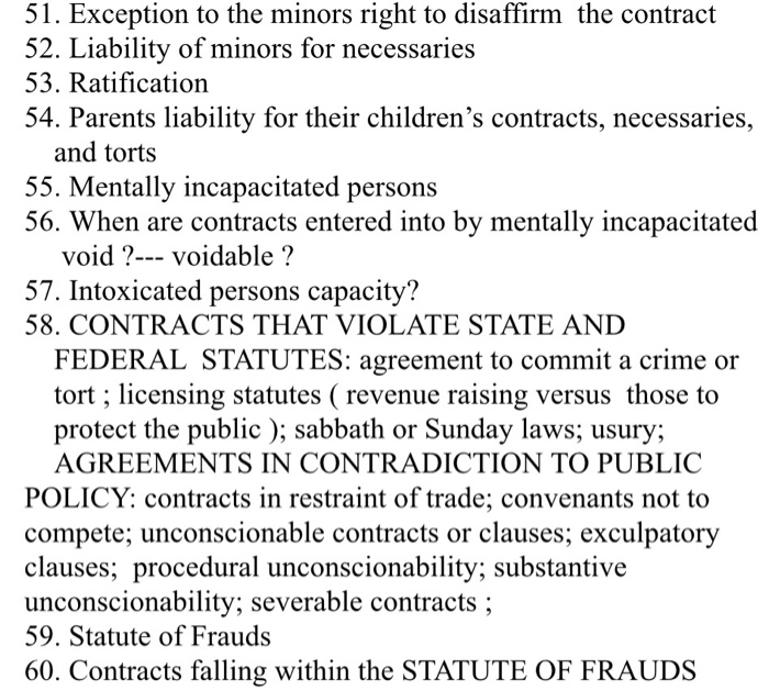 minors liability for necessaries
