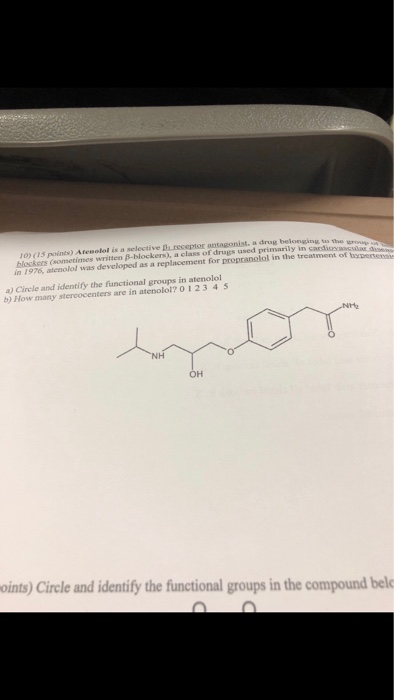 propranolol or atenolol