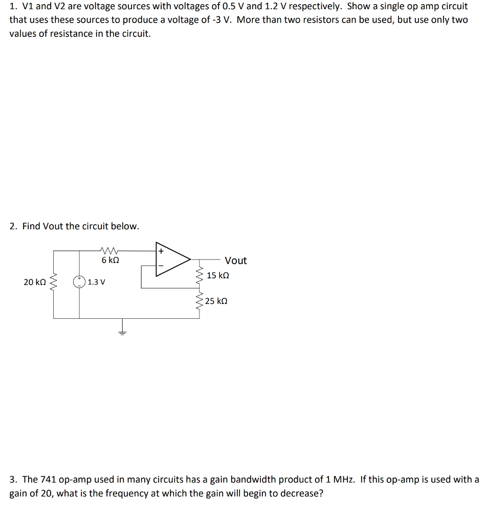 solved 1 v1 and v2 are voltage sources with voltages of