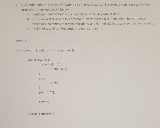 Solved: What Does This Code Do? Assume All Other Required