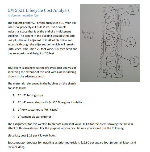 CM 5521 Lifecycle Cost Analysis Assignment Number