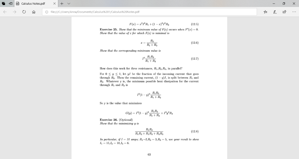 Solved: Calculus Notes pdf X (- 0 ด O File:///Cyusers/Anna