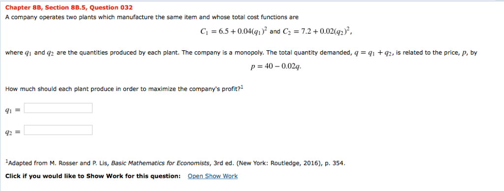 Solved: Chapter 8B, Section 8B 5, Question 032 A Company O
