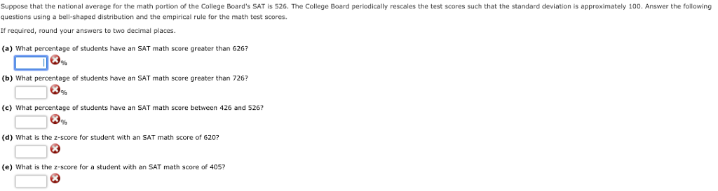 suppose that the national average for the math portion of the college boards sat is 526