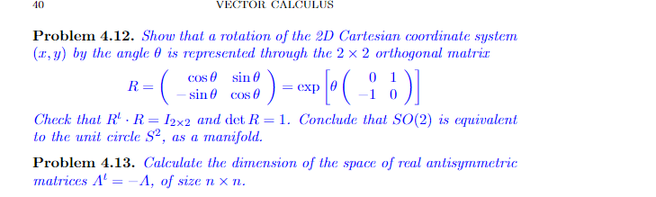 Solved: 10 VECTOR CALCULUS Problem 4 12  Show That A Rotat