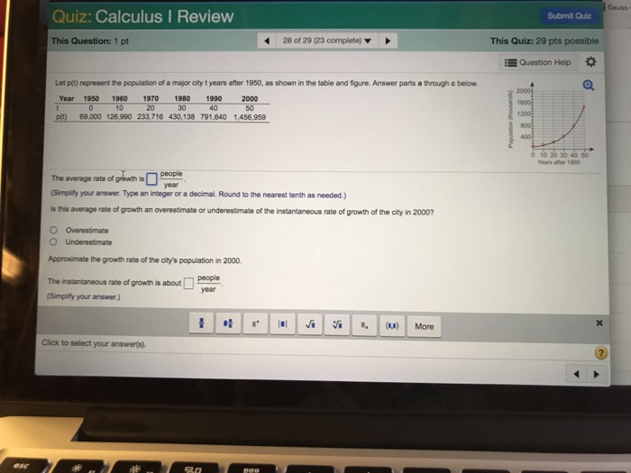 258d5a28196 Gauss- Quiz  Calculus I Review Submit Quiz This Question  1 pt 28 of