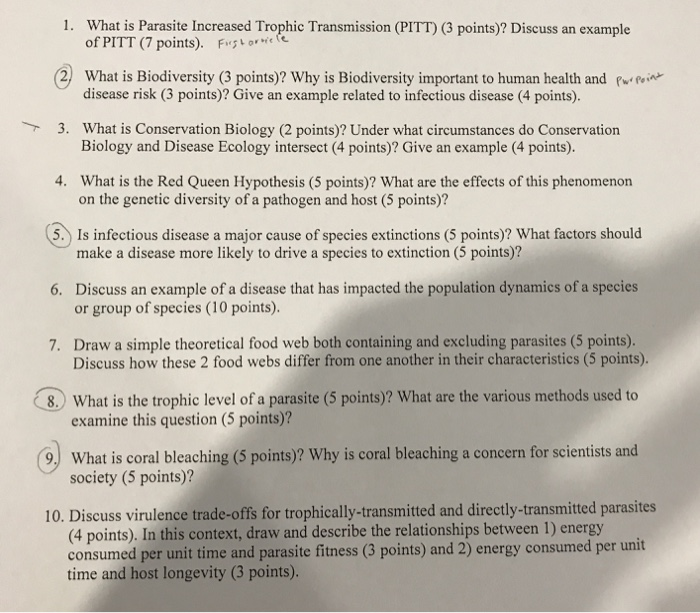 Solved: Disease Ecology Can You Answer Questions 1, 2, 5