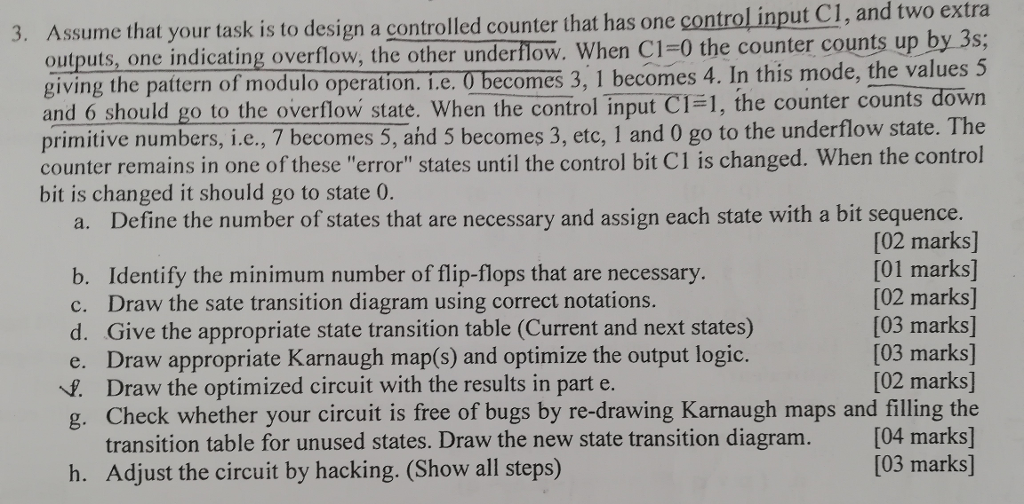 Extra At Your Task Is To Design A Controlled Counter That Has One Control Input C1