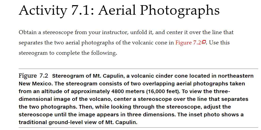 Solved: Activity 7 1: Aerial Photographs Obtain A Stereosc