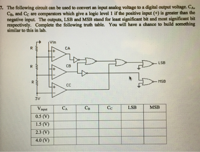 Solved: 7. The Following Circuit Can Be Used To Convert An ... on