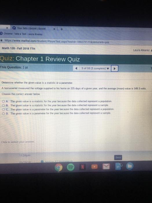 Solved: X   Q Your Sets L Quizlet  Quizlet Chrome-Take A T