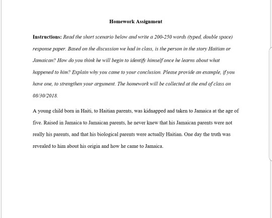 Solved: Homework Assignment Instructions: Read The Short S