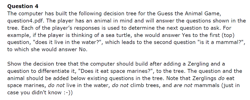 Question 4 The Computer Has Built The Following De    | Chegg com