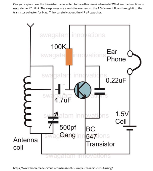 Solved: Can You Explain How The Transistor Is Connected To