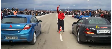 Cars That Start With B >> Solved Two Cars Are Competing In A Race On A Straight Roa
