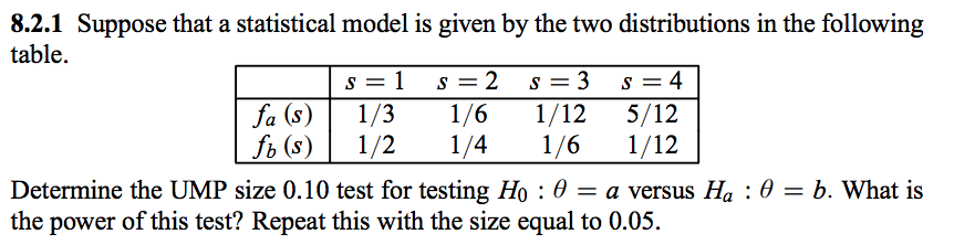 solved 8 2 1 suppose that a statistical model is given by rh chegg com