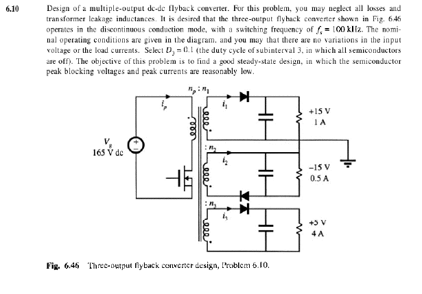 6 10 Design Of A Multiple-output De-de Flyback Con