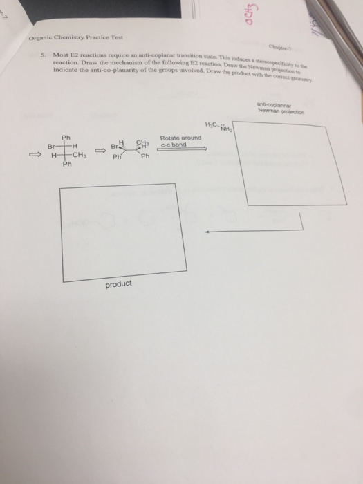 Solved: Organic Chemistry Practice Test Most E2 Reactions