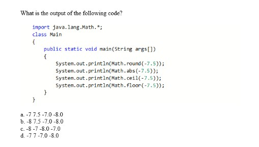 Solved: What Is The Output Of The