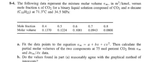Solved: 8-4  The Following Data Represent The Mixture Mola