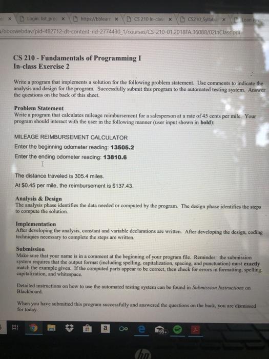 Solved: S X D Login: List pro XDhttps/bblearn Xcs210 In-cl