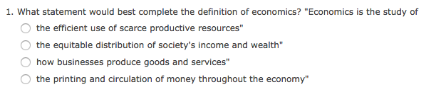 best definition of economics