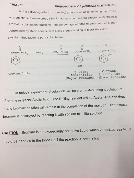 bromination of acetanilide product