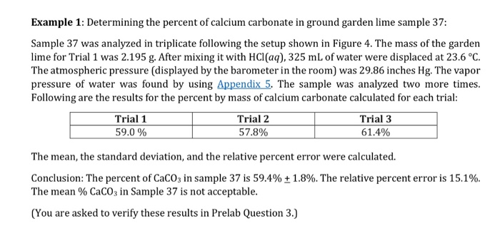 Solved Example 1 Determining The Percent Of Calcium Carb